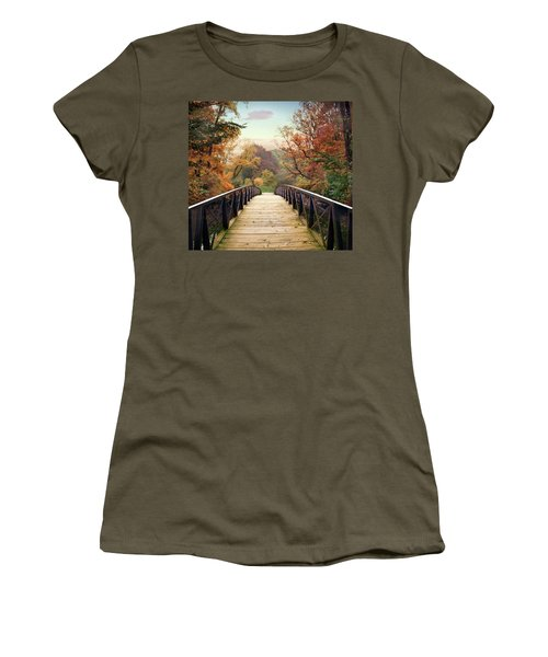 Women's T-Shirt featuring the photograph Autumn Encounter by Jessica Jenney