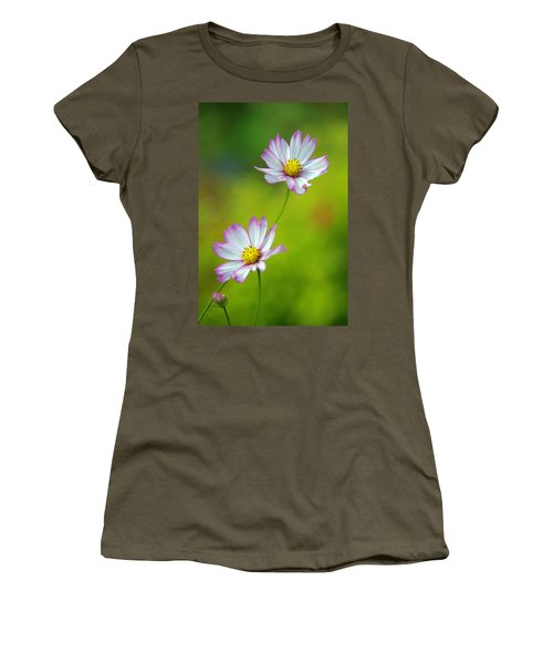 Women's T-Shirt (Junior Cut) featuring the photograph Autumn Flowers by Byron Varvarigos