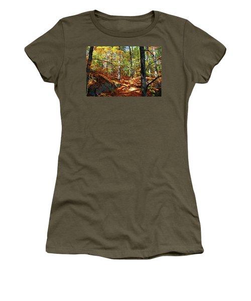 Autumn Forest Killarney Women's T-Shirt (Junior Cut) by Debbie Oppermann