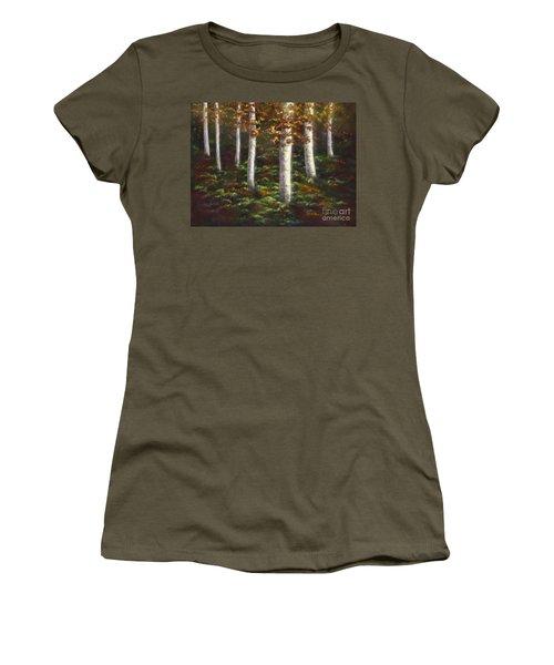 Autumn Ghosts Women's T-Shirt (Junior Cut) by Amyla Silverflame