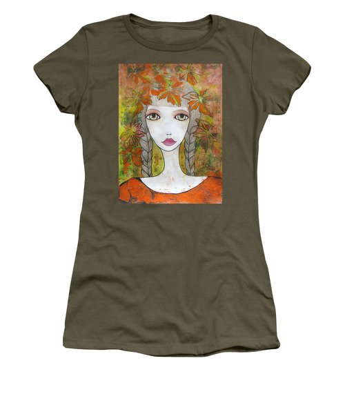 Autumn Girl  Women's T-Shirt (Athletic Fit)