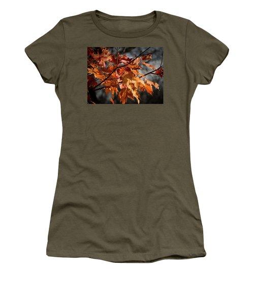 Autumn Gray Women's T-Shirt (Junior Cut) by Kimberly Mackowski