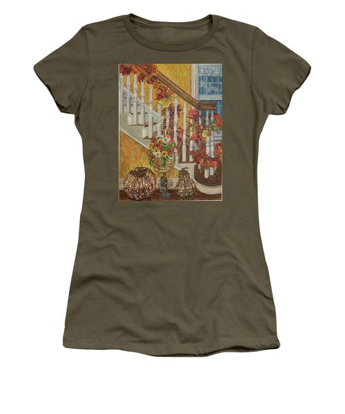 Autumn Hues Women's T-Shirt (Junior Cut) by Bonnie Siracusa