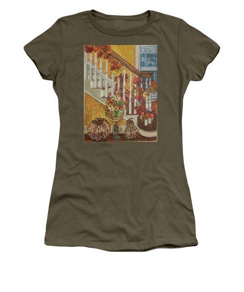 Autumn Hues Women's T-Shirt (Athletic Fit)