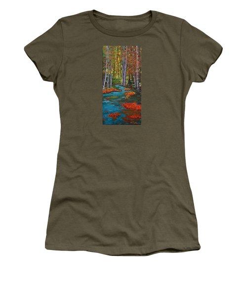 Autumn In The Air Women's T-Shirt (Junior Cut) by Mike Caitham
