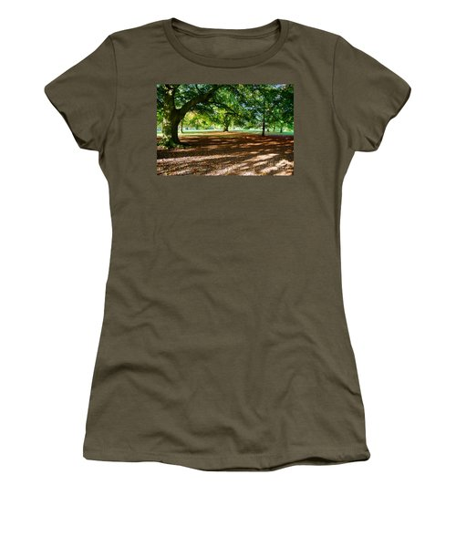 Women's T-Shirt (Junior Cut) featuring the photograph Autumn In The Park by Colin Rayner