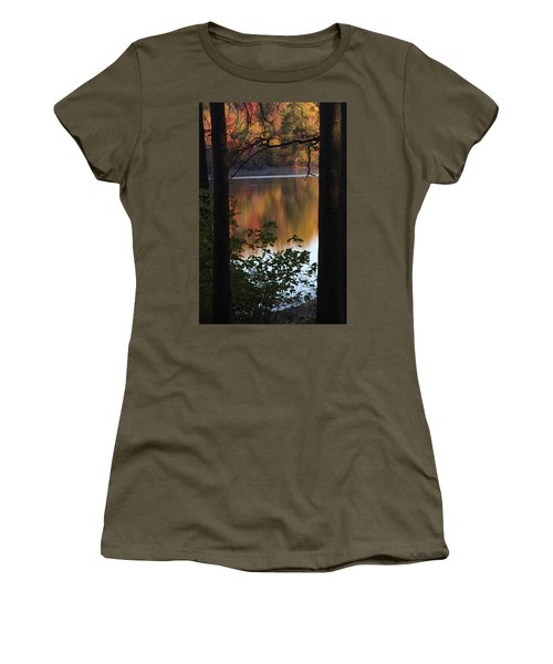 Women's T-Shirt (Athletic Fit) featuring the photograph Autumn Lake by Vadim Levin