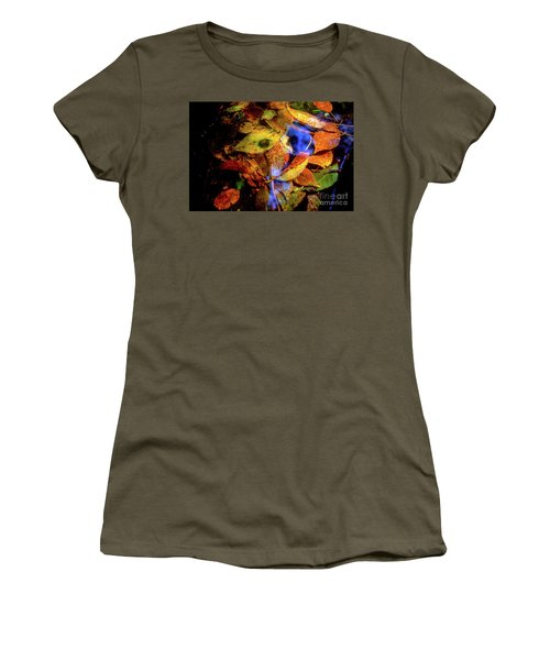 Women's T-Shirt (Junior Cut) featuring the photograph Autumn Leaf by Tatsuya Atarashi