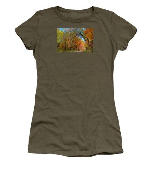 Women's T-Shirt (Junior Cut) featuring the photograph Autumn Light by Rodney Campbell