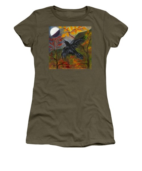 Autumn Moon Raven Women's T-Shirt
