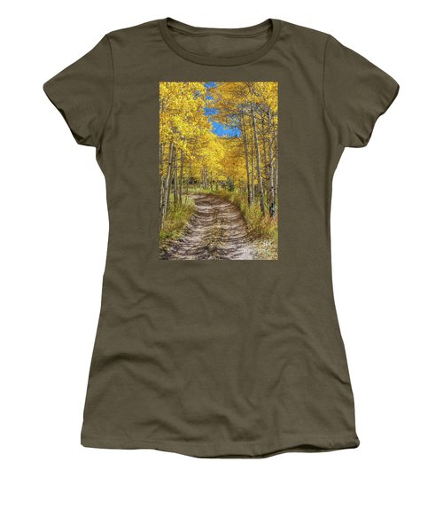 Autumn On Medano Pass Women's T-Shirt (Athletic Fit)