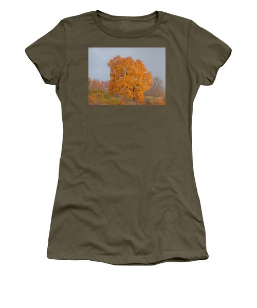 Women's T-Shirt featuring the photograph Autumn Over Prettyboy by Donald C Morgan