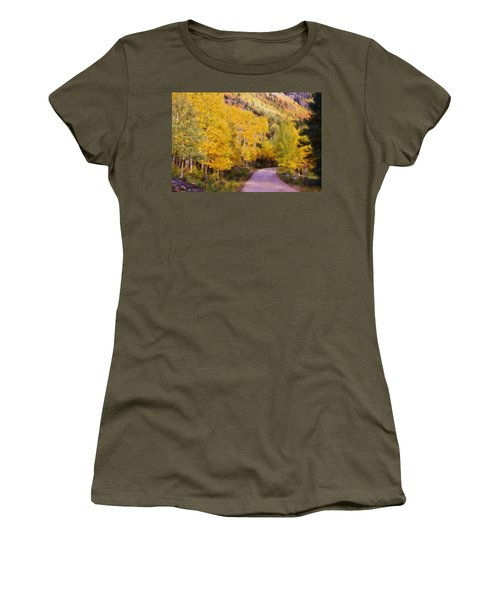 Autumn Passage Women's T-Shirt (Junior Cut) by Lana Trussell