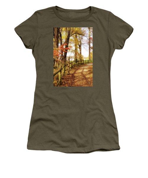 Autumn Pathway Women's T-Shirt (Junior Cut)