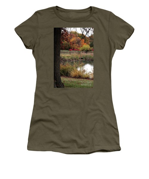 Autumn Pond In Maryland Women's T-Shirt
