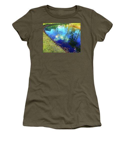 Autumn Reflection Pond Women's T-Shirt