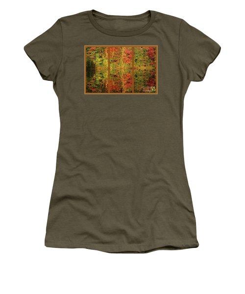Autumn Reflections In A Window Women's T-Shirt