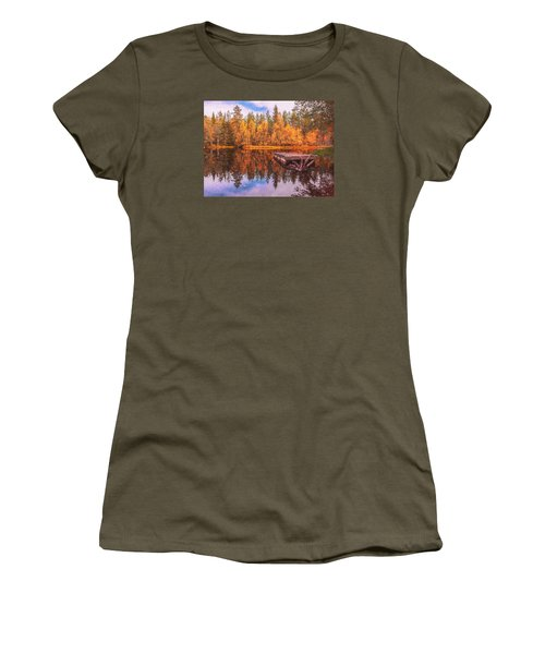 Women's T-Shirt (Junior Cut) featuring the photograph Autumn Season  by Rose-Maries Pictures