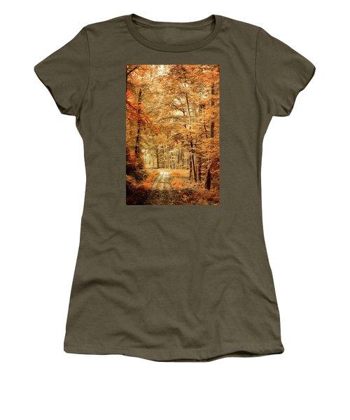 Autumn Secret Women's T-Shirt (Athletic Fit)