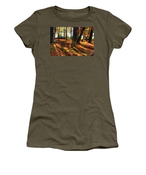 Women's T-Shirt (Junior Cut) featuring the photograph Autumn Shadows In The Blue Ridge by Dan Carmichael