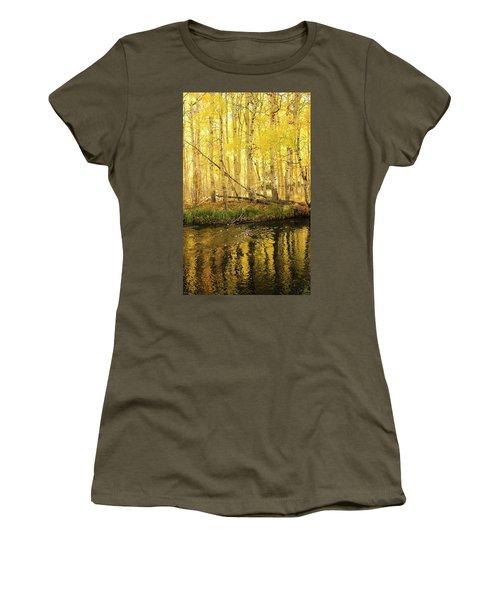 Autumn Soft Light In Stream Women's T-Shirt