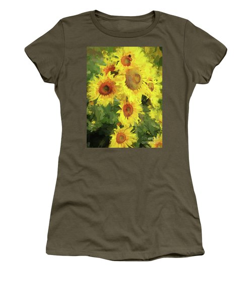Autumn Sunflowers Women's T-Shirt (Junior Cut) by Tina LeCour