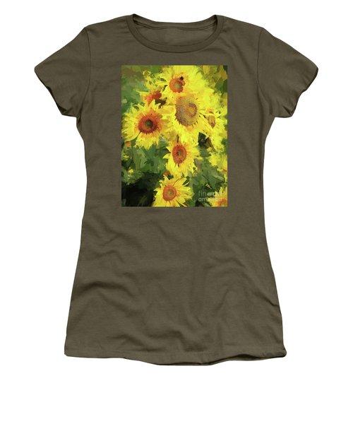 Autumn Sunflowers Women's T-Shirt (Athletic Fit)