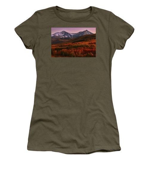 Autumn Sunset At Conway Summit In The Eastern Sierras Women's T-Shirt (Athletic Fit)