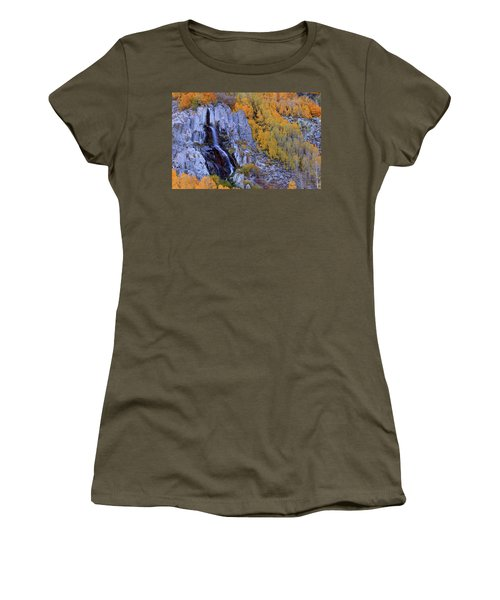 Autumn Surrounds Mist Falls In The Eastern Sierras Women's T-Shirt (Athletic Fit)