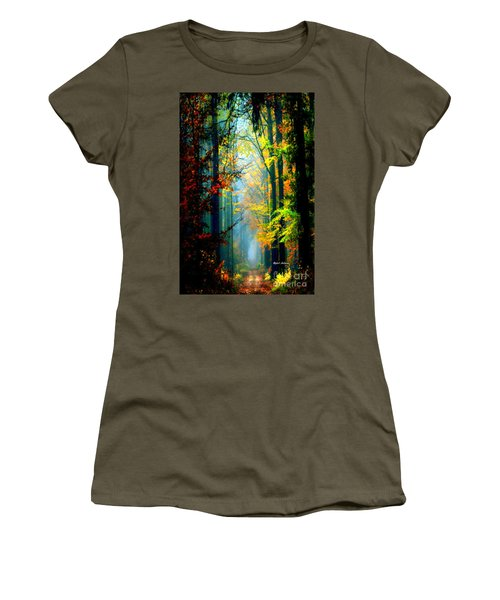 Autumn Trails In Georgia Women's T-Shirt