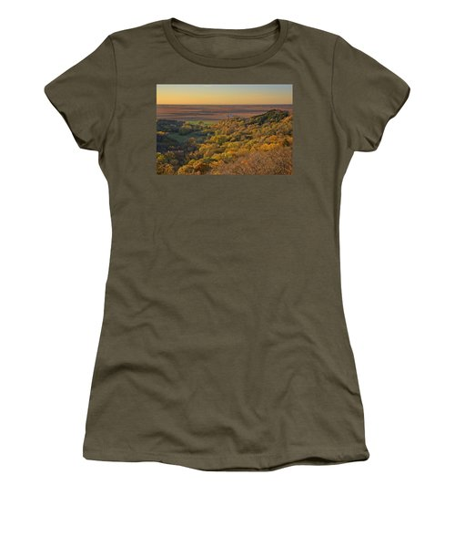 Autumn View At Waubonsie State Park Women's T-Shirt (Athletic Fit)