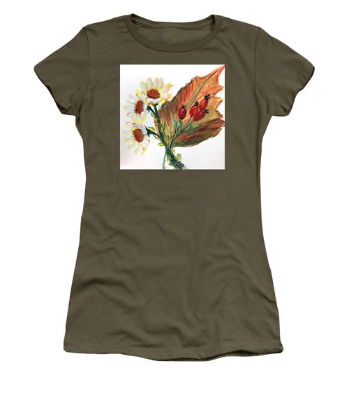 Autumn Wild Flowers Bouquet Women's T-Shirt (Athletic Fit)