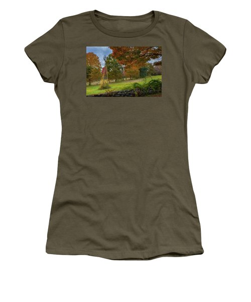 Women's T-Shirt (Junior Cut) featuring the photograph Autumn Windmill by Bill Wakeley