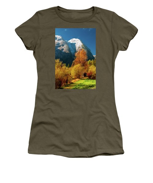 Women's T-Shirt (Athletic Fit) featuring the photograph Autumnal Gift by Geoff Smith