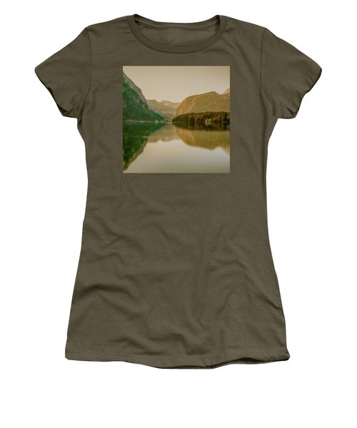 Women's T-Shirt (Athletic Fit) featuring the photograph Autumnal Reflections  by Geoff Smith