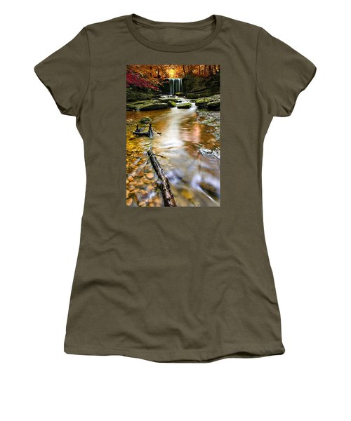 Autumnal Waterfall Women's T-Shirt