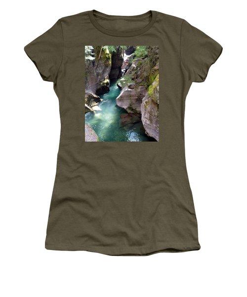 Avalanche Creek Glacier National Park Women's T-Shirt