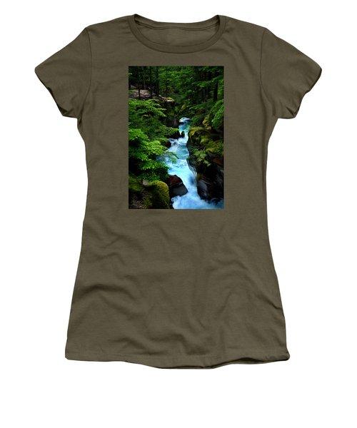 Avalanche Creek Waterfalls Women's T-Shirt