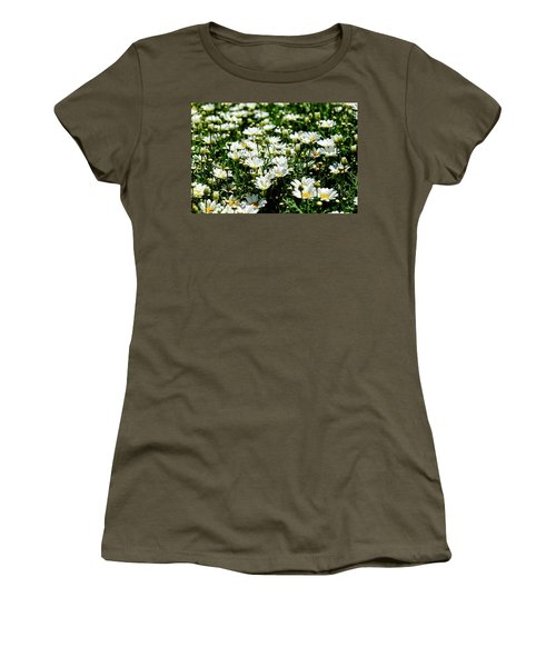 Women's T-Shirt (Athletic Fit) featuring the photograph Avalanche Sun Daises by Monte Stevens