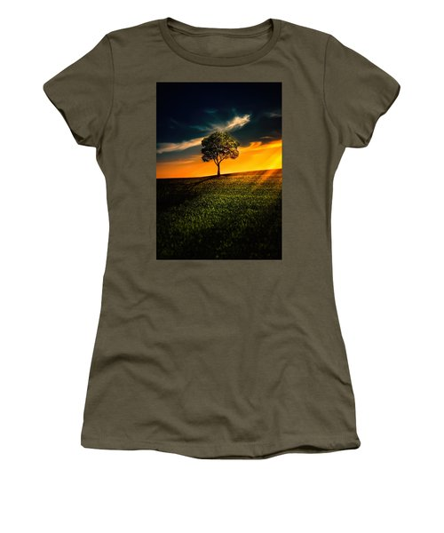 Awesome Solitude II Women's T-Shirt (Junior Cut) by Bess Hamiti