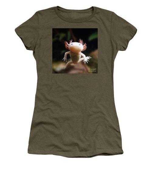 Axolotl Face Women's T-Shirt (Athletic Fit)