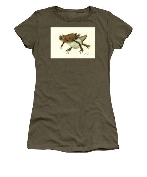 Axolotl Women's T-Shirt (Junior Cut) by Juan Bosco