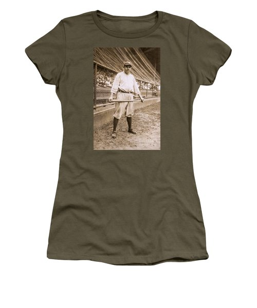 Babe Ruth On Deck Women's T-Shirt (Athletic Fit)