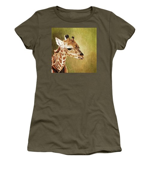 Baby Giraffe Women's T-Shirt (Athletic Fit)