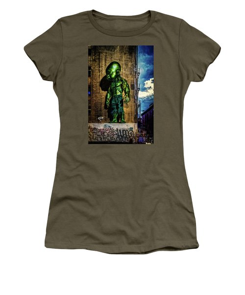 Women's T-Shirt (Athletic Fit) featuring the photograph Baby Hulk by Chris Lord