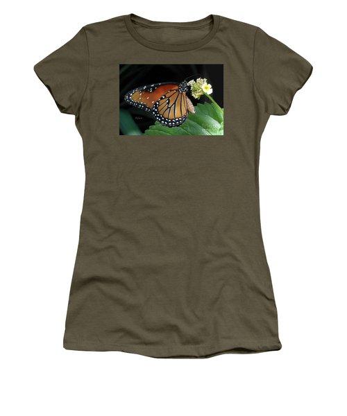 Baby Monarch Macro Women's T-Shirt (Junior Cut) by Felipe Adan Lerma
