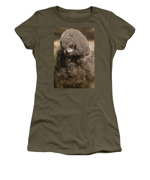 Baby Snowy Owl Women's T-Shirt (Junior Cut) by JT Lewis