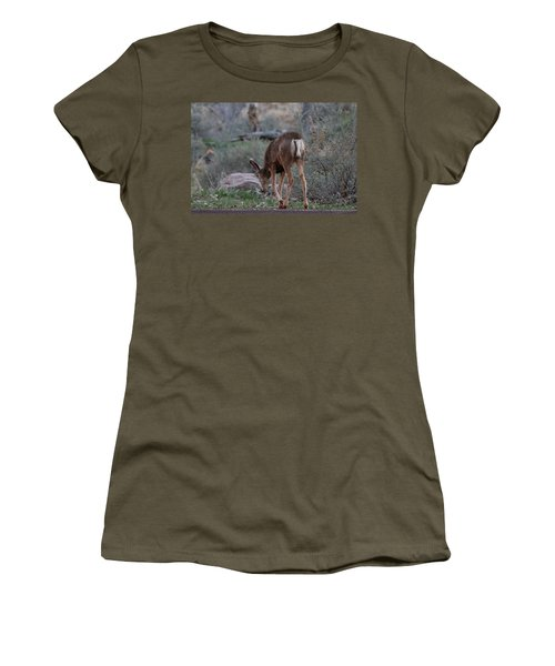Back Into The Woods Women's T-Shirt (Athletic Fit)