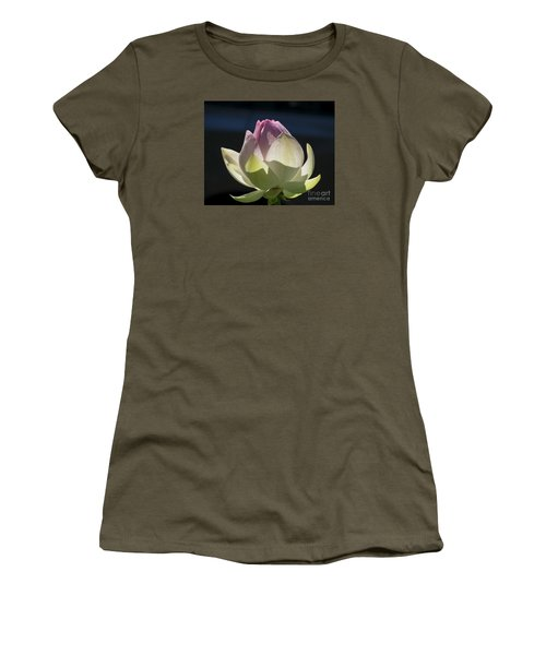 Backlit Lotus Bud 2015 Women's T-Shirt