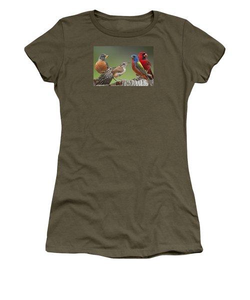 Backyard Buddies Women's T-Shirt (Junior Cut) by Bonnie Barry